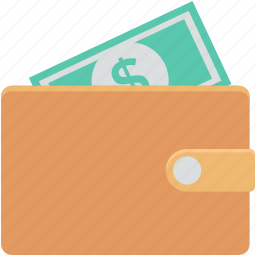 billfold wallet, paper money, pocket purse, purse, wallet icon