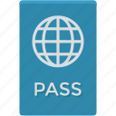 passport, travel id, travel identity, travel pass, travel permit icon