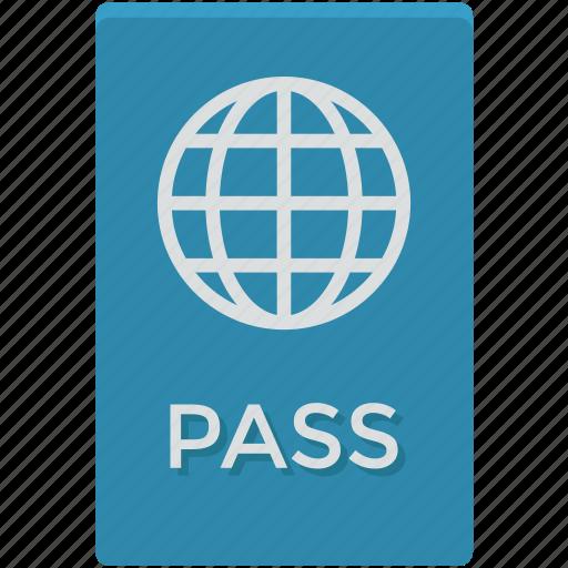 passport, travel id, travel identity, travel pass, travel permit icon