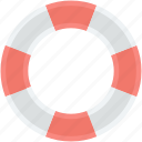 life belt, life buoy, life donut, life ring, ring buoy icon