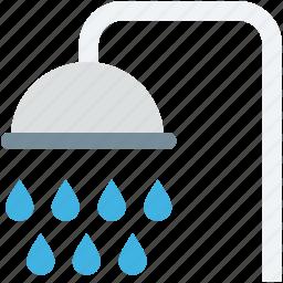 bath, bath shower, bathroom, shower, shower faucet icon