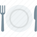 dining, fork, knife, plate, restaurant icon