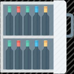alcohol, bar, beer cooler, beer fridge, beverage icon
