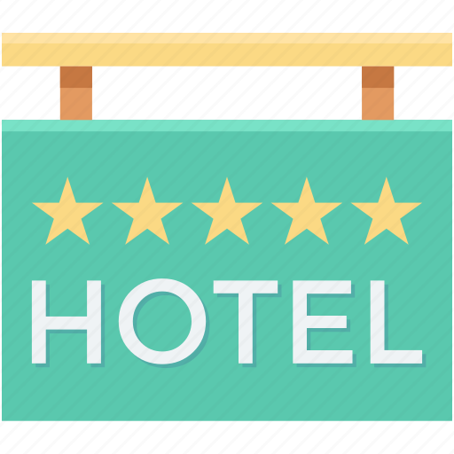 five star hotel, hanging sign, hotel, hotel signboard, signboard icon