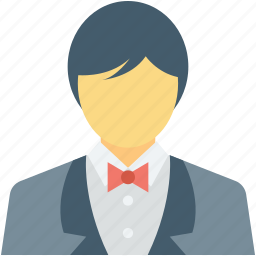 butler, concierge, hotel services, waiter, waiting staff icon
