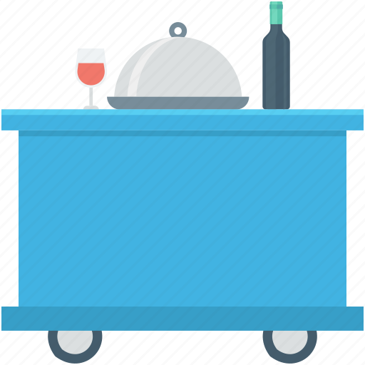 food service, food trolley, hotel trolley, meal trolley, room service icon