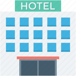 building, guest house, hotel, hotel building, hotel flats icon