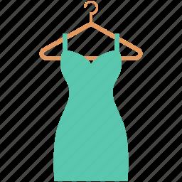 evening dress, ladies dress, party dress, summer dress, women dress icon