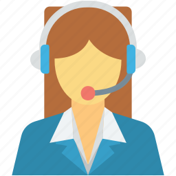 call center, customer representative, customer service, customer support, female icon
