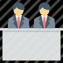 customer service, front desk, hotel reception, reception, help desk icon