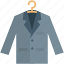 blazer, clothing, coat, coat hanger, jacket icon