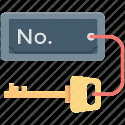 door key, hotel room, key, room key, security icon