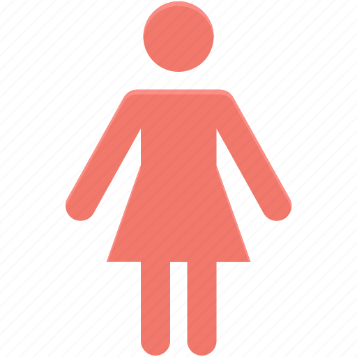 female, female gender, ladies, woman bathroom, women restroom icon