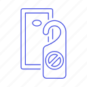 2, check, disturb, do, door, hanger, holiday, hotel, in, not, service, sign, spa, trip, vacation icon