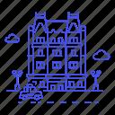 apartment, building, holiday, hotel, luxury, manhattan, ny, nyc, plaza, road, spa, taxi, vacation icon