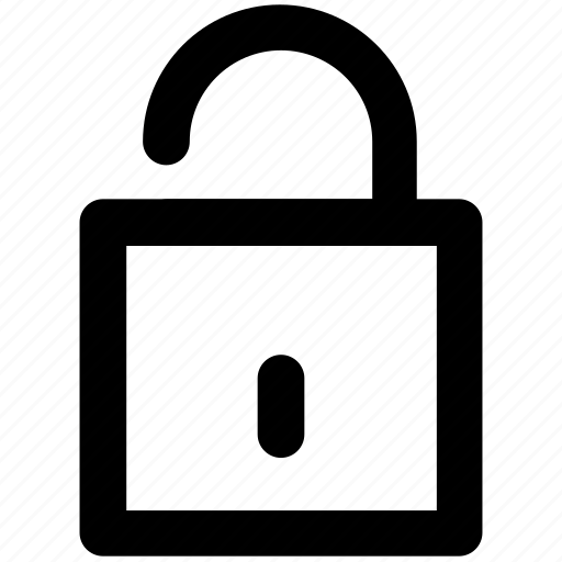 access, open, padlock, password, unlock, unlocked padlock icon