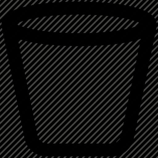 garbage can, litter bin, paper bucket, rubbish bin, trash bin, trash can icon