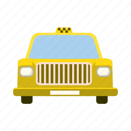car, cartoon, taxi, transport, transportation, travel, vehicle icon