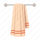 cartoon, clean, cotton, dry, hanging, towel, wall icon