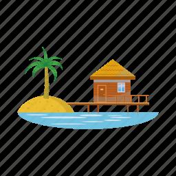 cartoon, hotel, luxury, resort, travel, vacation, water icon
