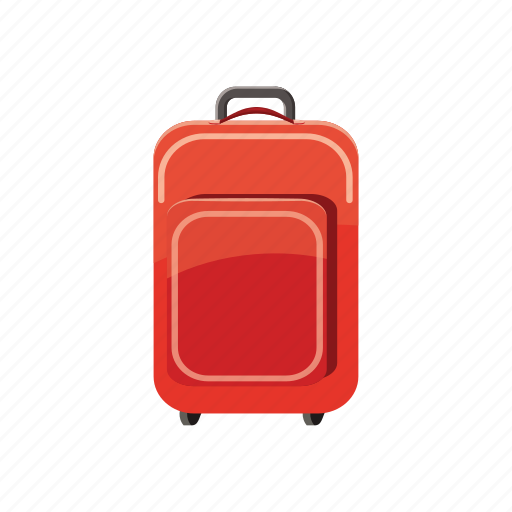 airport, cartoon, case, luggage, suitcase, travel, wheel icon