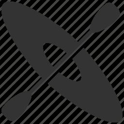 activities, canoe, canoeing, exercise, kayak, sport, water sports icon