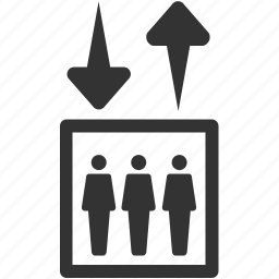 down, elevator, facility, floor, lift, move, up icon