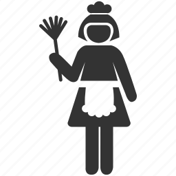 clean, cleaner, cleaning, cleaning room, housekeeping, maid, sweeper icon