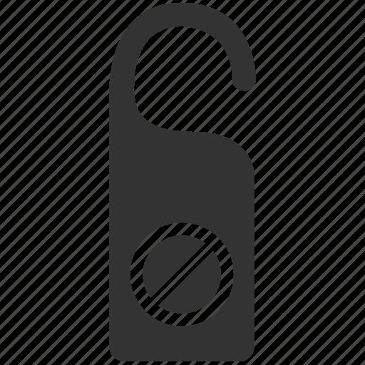 cancel, cancel booking, close, do not disturb, door hanger, error, warning icon