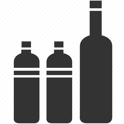 alcohol, beverage, bottle, complementary water, drink, glass icon
