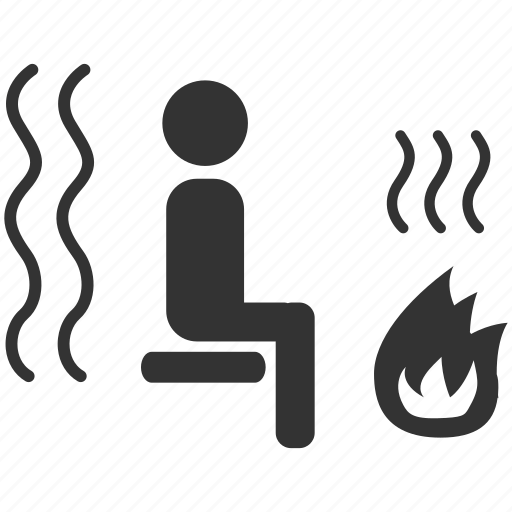hot, sauna, spa, steam room, temperature, warm icon