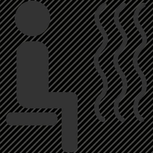 hot, sauna, sauna steam, spa, steam room, temperature, warm icon