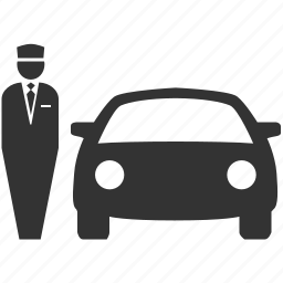 car rental, hotel, parking, parking service, service, valet parking icon