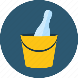 alcohol, alcoholic, bucket, celebration, champagne, drinks, food icon