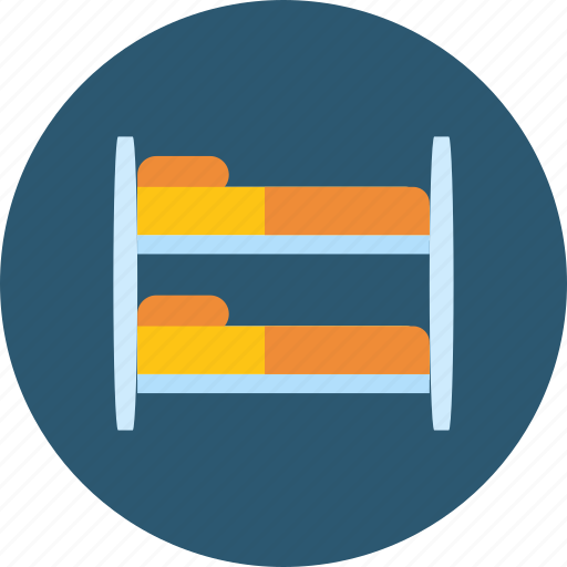 bed, bedroom, double bed, furniture, hostel, mattress, sleep icon