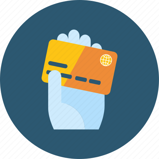 cards, commerce, hand, hotel, money, payment, sale icon