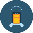 baggage, bellboy, hotel, luggage, people, profession, valet icon