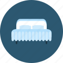 bed, bedroom, comfortable, double bed, furniture, hotel, rest icon