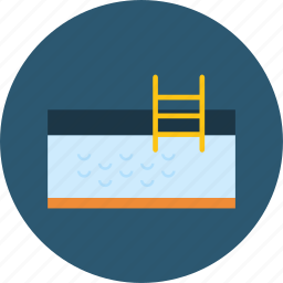hotel, ladder, pool, sports, summertime, swimming, water icon