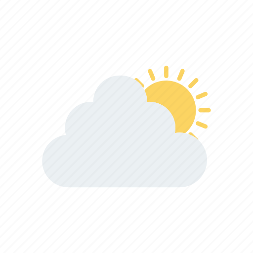 Cloud, shine, sun, weather icon - Download on Iconfinder