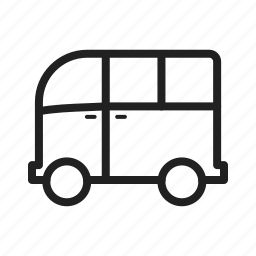 car, journey, minivan, travel, van, wagon, watercolor icon