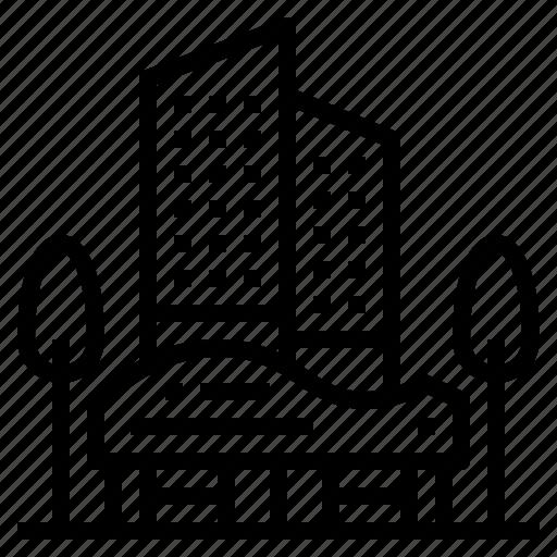 Condominium Apartment: Apartment, Building, Condominium, Hotel Icon