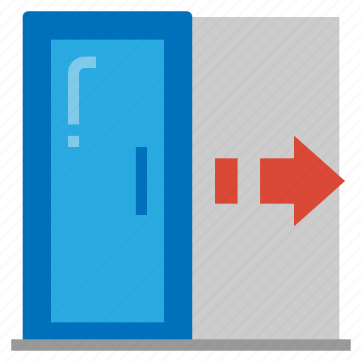 emergency, exit, logout, outside icon