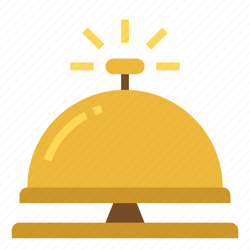 administrative, bell, desk, reception icon