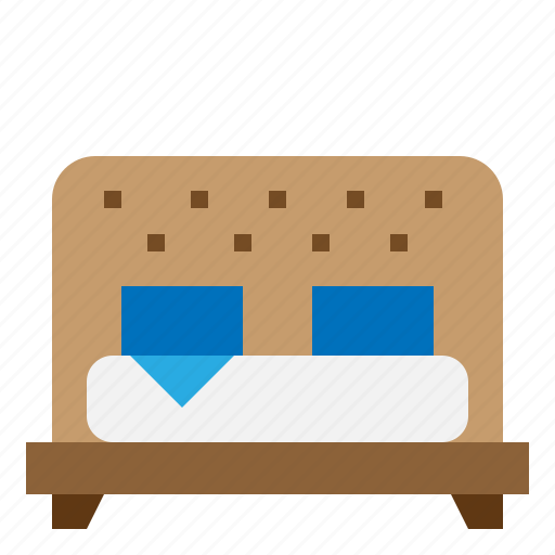 bed, double, hotel, room icon
