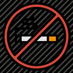 cigarette, healthcare, no, smoking icon