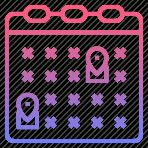 availability, calendar, hotel, service icon