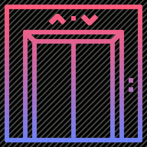 elevator, interior, lift, passenger icon