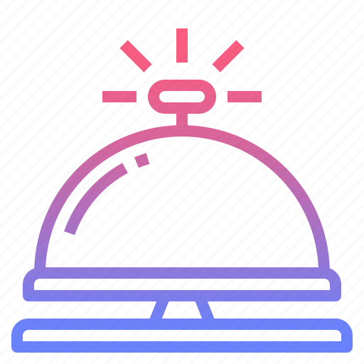 administrative, bell, desk, reception icon