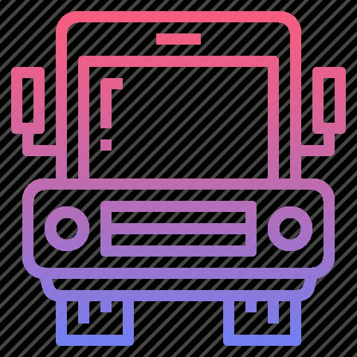 bus, shuttle, transport, transportation icon